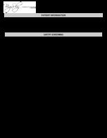 CT Screening Form