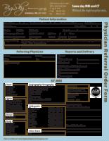 MRI Referral Form